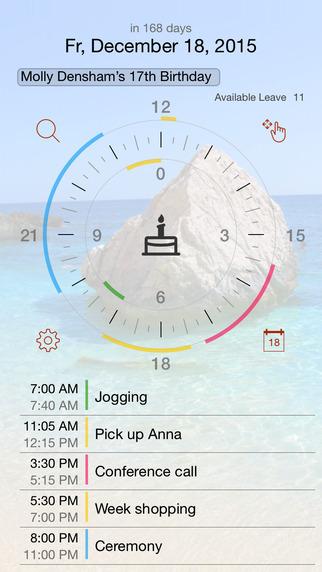 Jiffies - Calendar in the watch