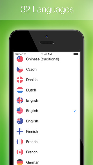 Easy Translation ~ Easily translate text or voice from/to English, Arabic, Turkish, Spanish, Italian, Chinese, French, German, Japanese, Korean, Spanish, Russian, Portuguese, Dutch, Czech, Greek, Finnish, Malay and many other languages.