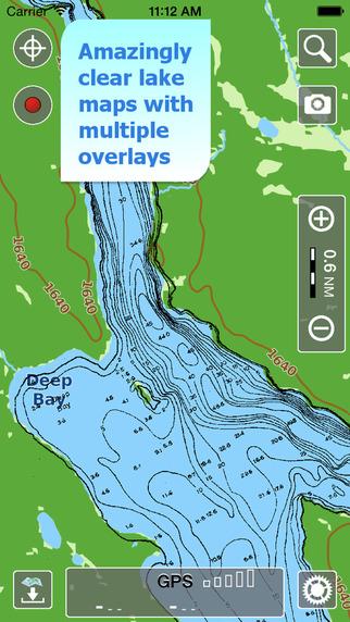 Aqua Map Saskatchewan - Lakes GPS Offline Nautical Charts