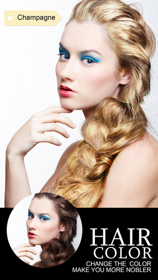 Hair Color Dye - Switch Hairstyles, Wig Effects Photo Editor Booth