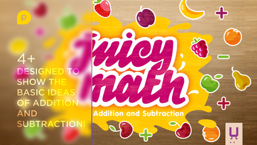 Juicy Math - Addition and Subtraction. Elementary mathematics for children – add subtract and solve