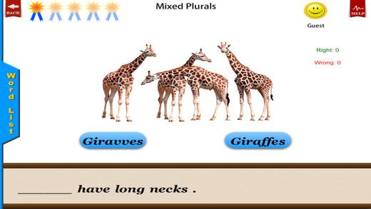Irregular Plurals Free - English Language Art Grammar App