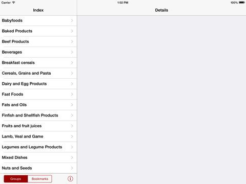 Nutrients Canada iPad Screenshot 2