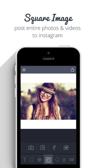 Square Image - Crop export entire picture and video without cropping Instagram Edition