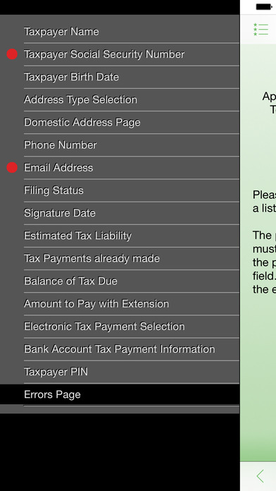Taxsoftware.com 4868 iPhone Screenshot 2