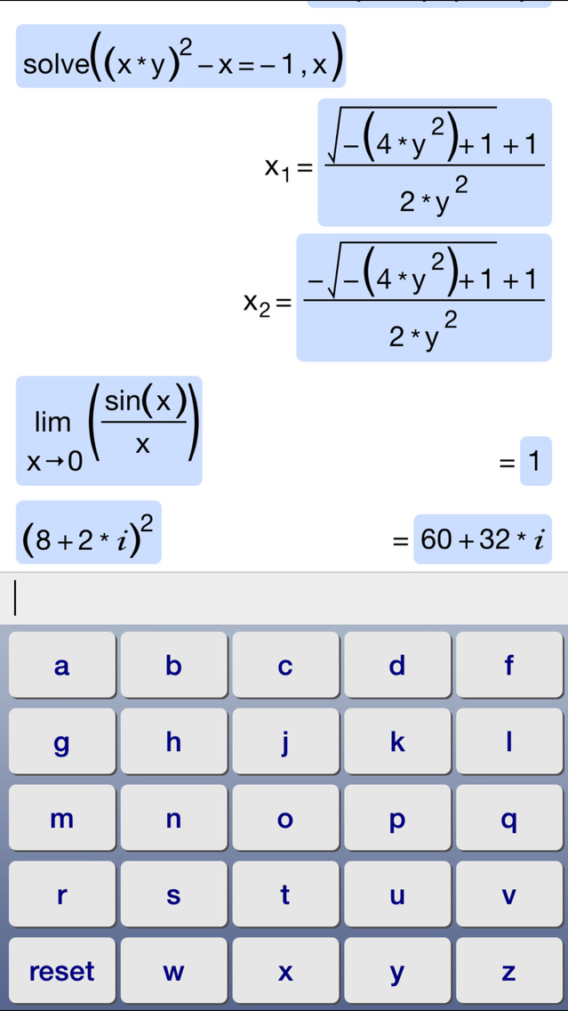 Symbolic Calculator screenshot