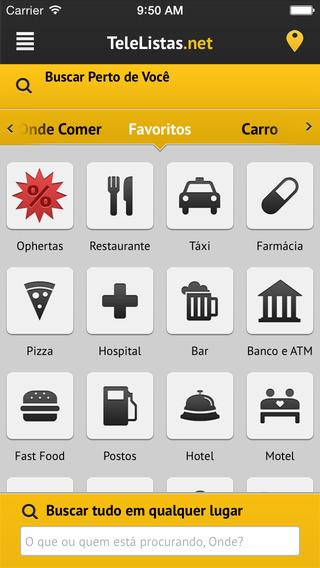 TeleListas.net Mobile iPhone Screenshot 1