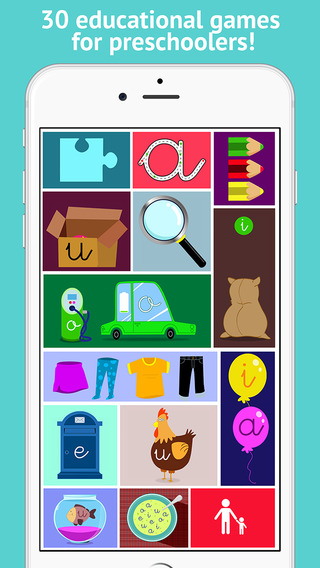 Learn to read and write the vowels - Preschool 2+ - For iPhone