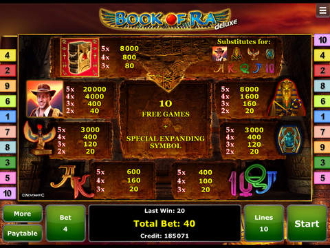 iphone book of ra cheats