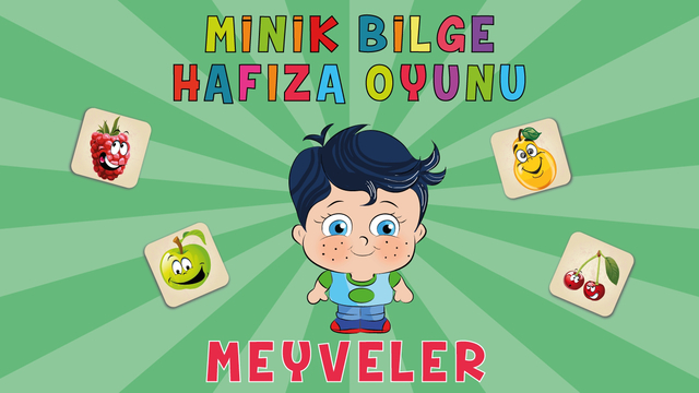Learn Turkish with Little Genius - Matching Game - Fruits