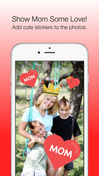 Mother's Day Photo Stickers - with Facebook Instagram Sharing