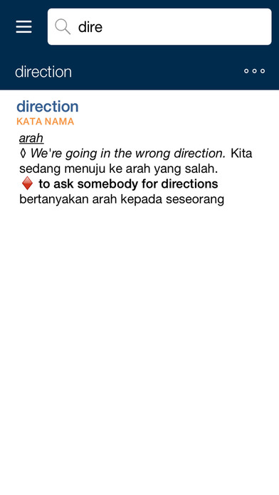 Collins Malay Dictionary iPhone Screenshot 2
