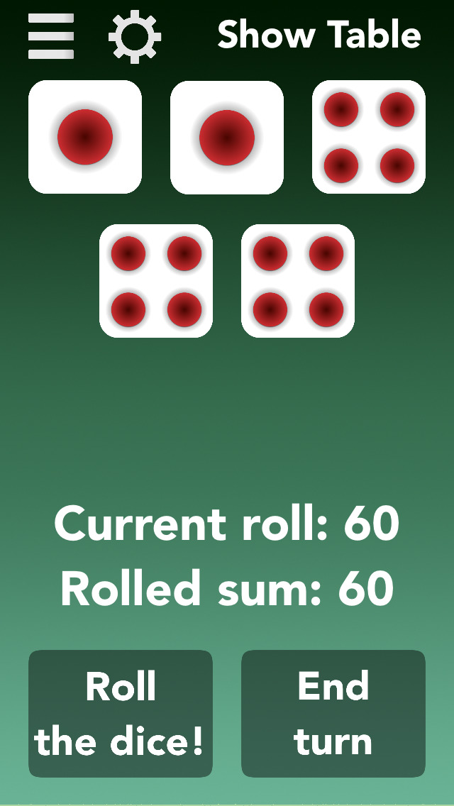 Thousand - Roll Five Dices to Collect Points