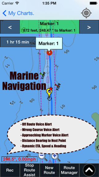 Marine Navigation - Germany - Inland River Canal Maps - Offline Gps Nautical Charts for Sailing Boat