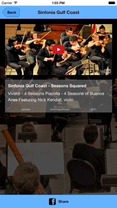 Sinfonia Gulf Coast iPhone Screenshot 4