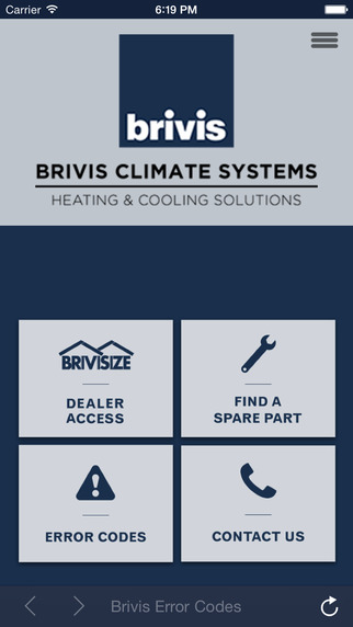 Brivis Error Codes