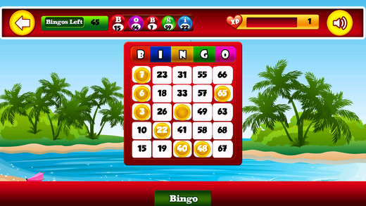 Ace Bingo Party Paradise Vacation - Free Las Vegas Classic Casino Bingo Board