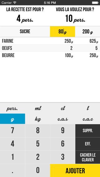 CalculaCook : Calcul de proportion en cuisine