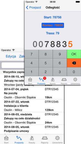 Ewidencja Przebiegu Pojazdu iPhone Screenshot 2