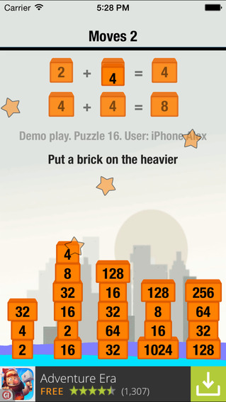 2048 solitaire Games for iPhone/iPad screenshot