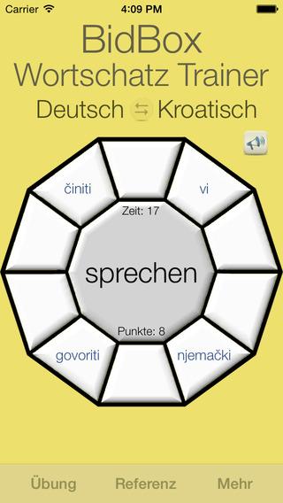Vocabulary Trainer: German - Croatian iPhone Screenshot 3