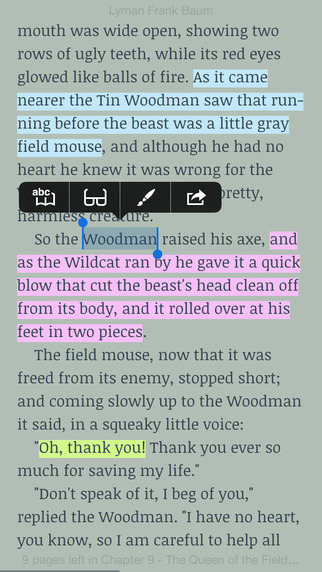 Marvin Classic - eBook reader for epub Screenshots