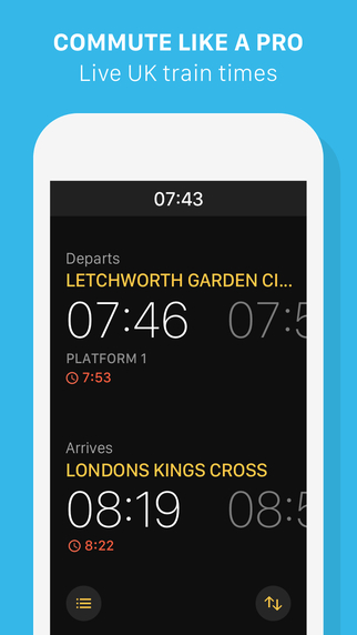 FastTrain - Train times for commuters
