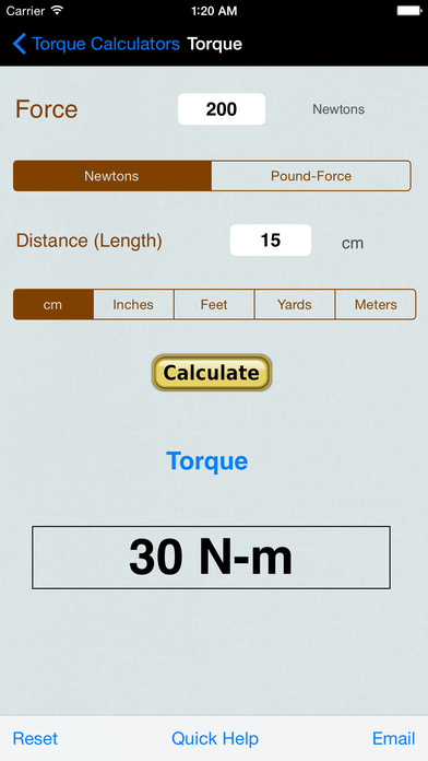 Wheel And Tire Motion Calculator iPhone Screenshot 3