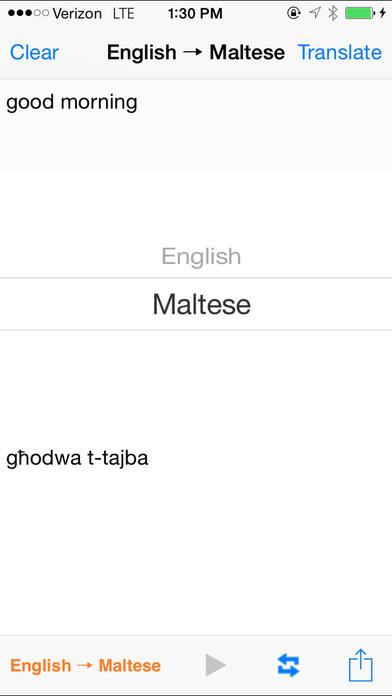 English Maltese Translator iPhone Screenshot 2