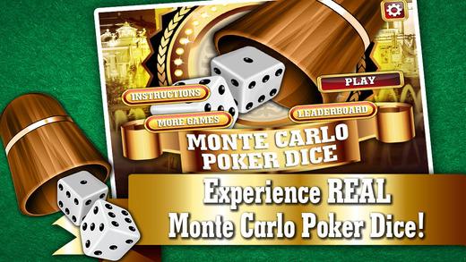 Monte Carlo Poker Dice FREE - Best VIP Addicting Yatzy Style Casino Game