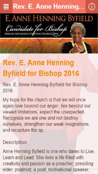 Rev. E. Anne Henning Byfield