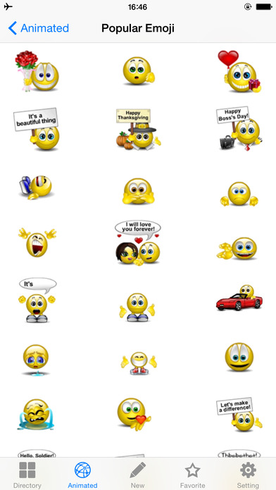 Screenshots of Emoji Keyboard Twitch for iPhone