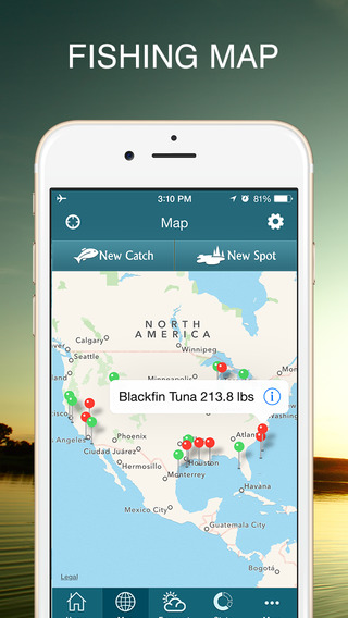 Fishbox - The Best Sport Fishing Tackle App for Anglers. Catch Fish like Tuna, Trout, Salmon via Tides, Solunar, Weather