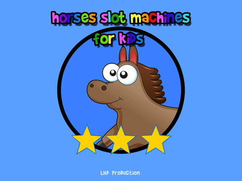 Horses slot machines for kids iPad Screenshot 1