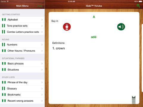 iSabi Yoruba iPad Screenshot 1