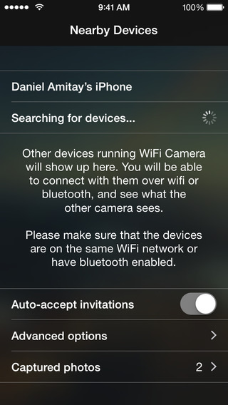 Screenshots for WiFi Camera - Wirelessly connect your iPhone/iPad cameras