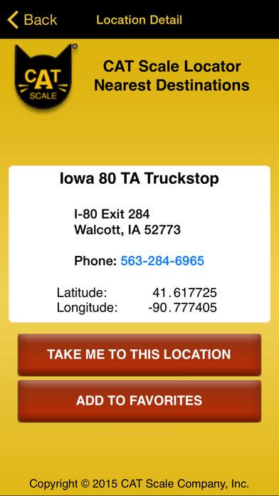 CAT Scale Locator iPhone Screenshot 4