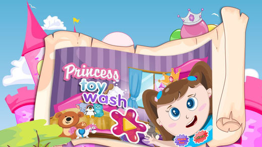 Princess Toy Wash - Cleaning washing and clean up game