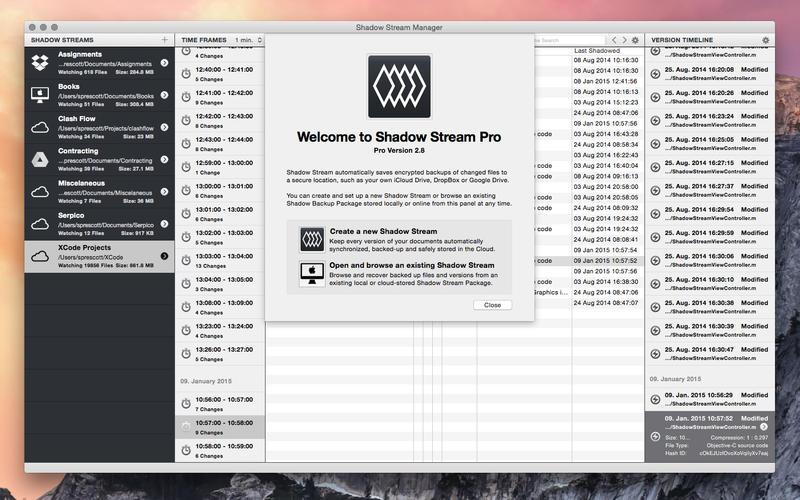 Shadow Stream Pro - 文件实时备份工具[OS X][¥18→0]丨反斗限免