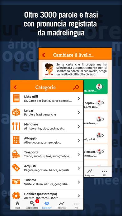 MosaLingua Spagnolo : Imparare e Memorizzare lo Spagnolo rapidamente (Italiano ► Spagnolo) iPhone Screenshot 4