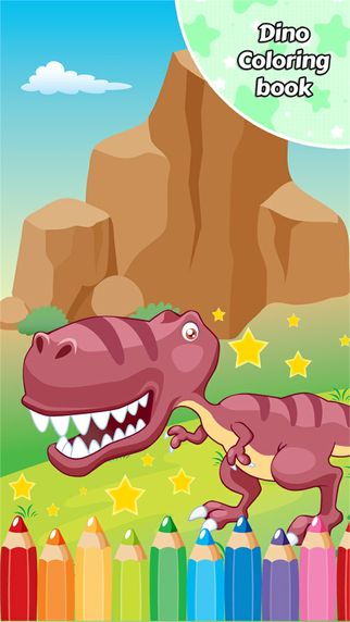 Dino Coloring Book Drawing for Kid Games