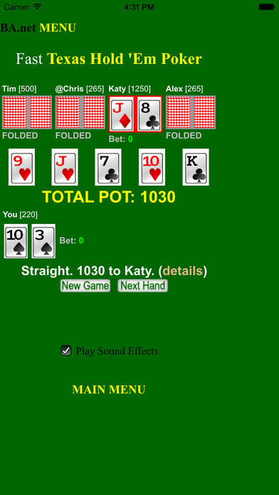 Screenshots for free Fast Poker Texas Hold 'Em - BA.net