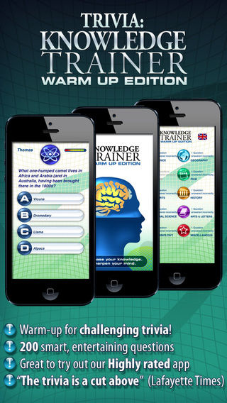 Knowledge Trainer: Warm Up Edition – try the most challenging trivia in the App Store for free