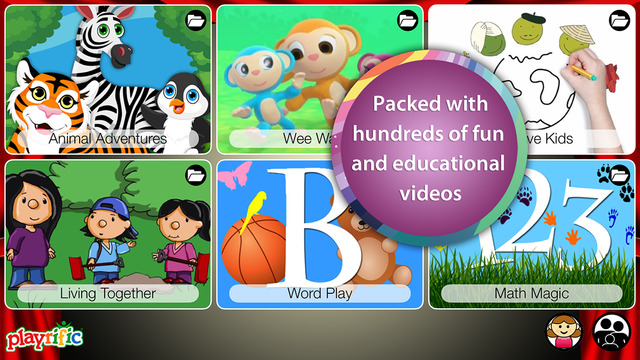 Kids Video Streaming by Playrific - Safe Fun and Educational Videos for Children