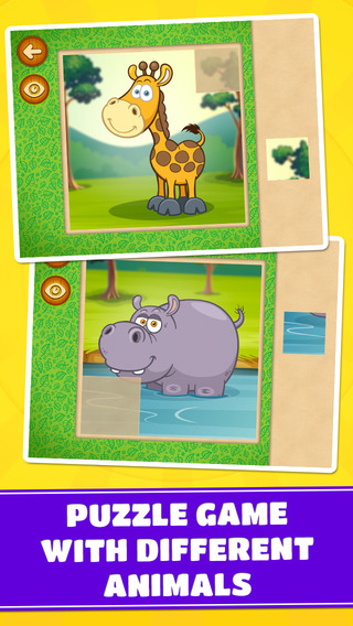 Wild Animals Puzzles: Savanna Desert Jungle Forest - Free