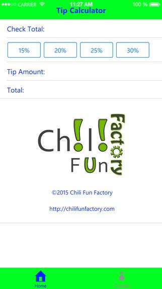 Chili Fun Factory Tip Calculator
