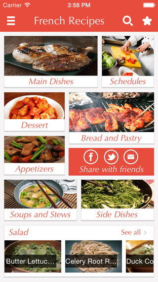 French Food Recipes - best cooking tips ideas meal planner and popular dishes .