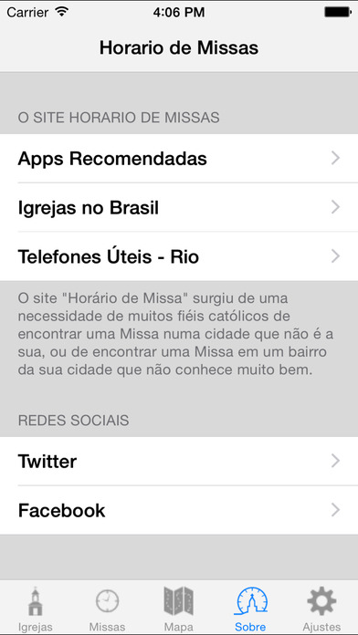 Captura de tela do iPhone 3