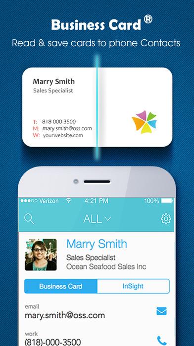 Business Card business card reader & business card