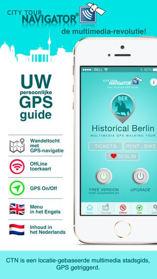 Berlijn Guide History Walking Tour: Multimedia GPS stadswandeling met offline kaart video en audiogu
